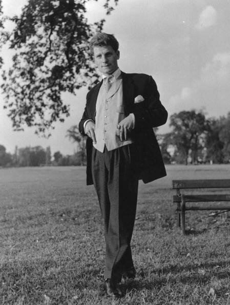 10th October 1953 London gang member Colin Donellan dressed in fashionable Edwardian  style clothing on Clapham